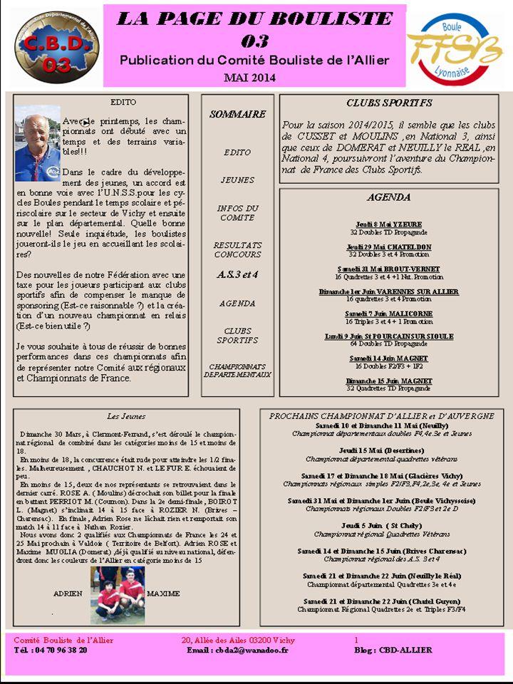 LA PAGE DU BOULISTE 03 LA PAGE DU BOULISTE 03 LA PAGE DU BOULISTE 03