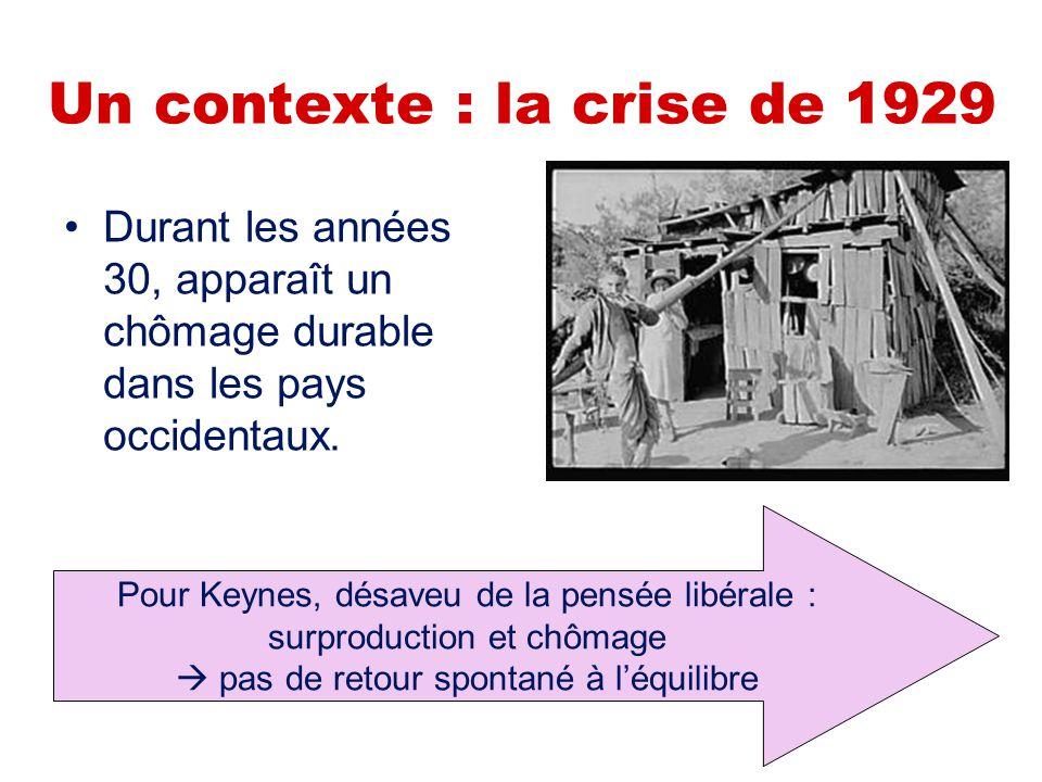 Un contexte : la crise de 1929