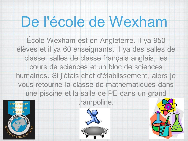 De l école de Wexham