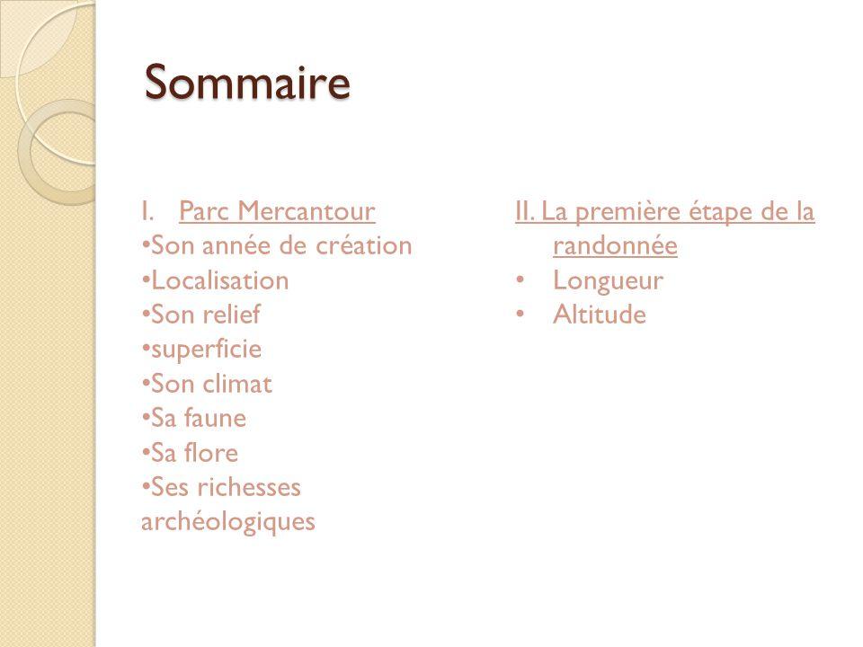 Sommaire Parc Mercantour Son année de création Localisation Son relief