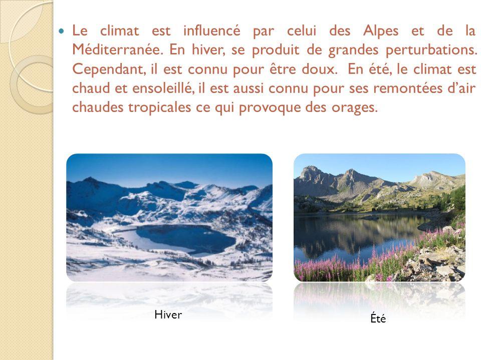 Le climat est influencé par celui des Alpes et de la Méditerranée