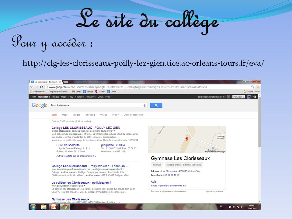 Le site du collège Pour y accéder :