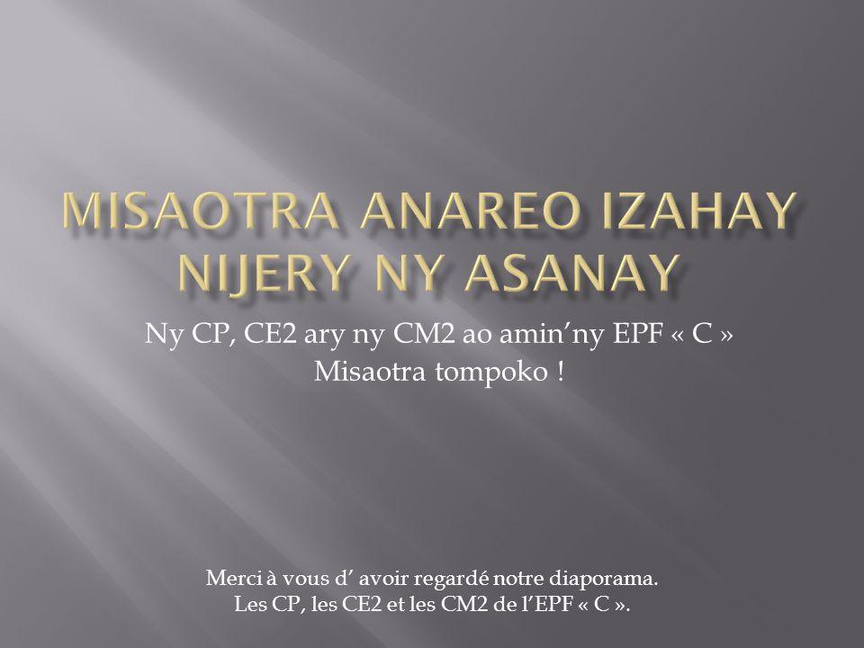 MiSAOTRA ANAREO IZAHAY NIJERY NY ASANAY