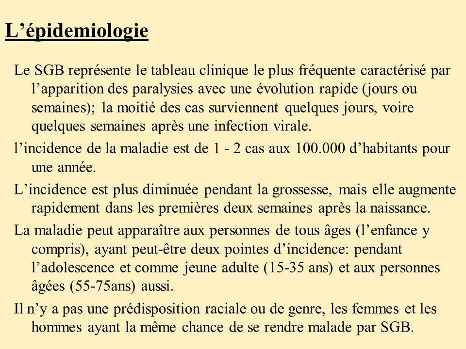 L'épidemiologie