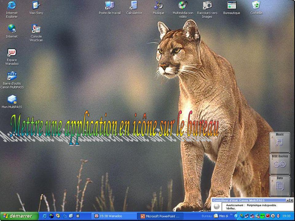 Mettre une application en icône sur le bureau