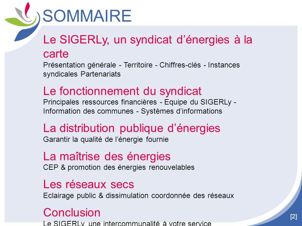 SOMMAIRE Le SIGERLy, un syndicat d'énergies à la carte