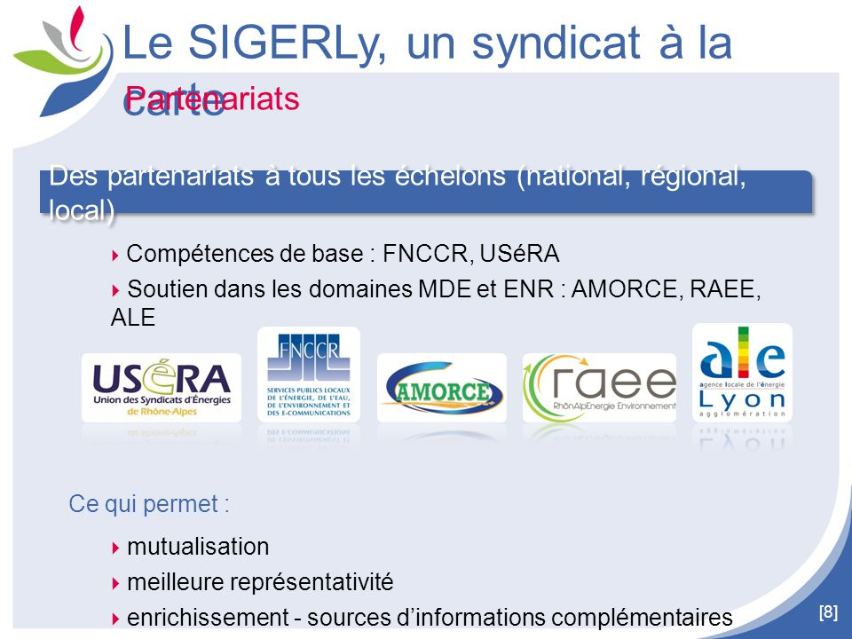 Le SIGERLy, un syndicat à la carte