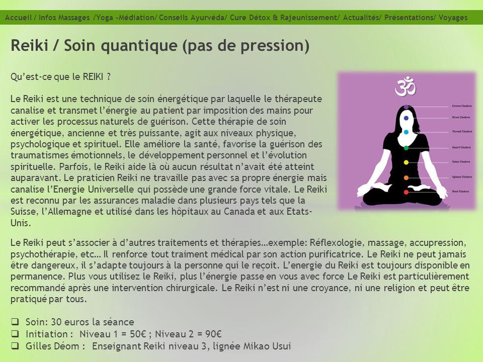 Reiki / Soin quantique (pas de pression)