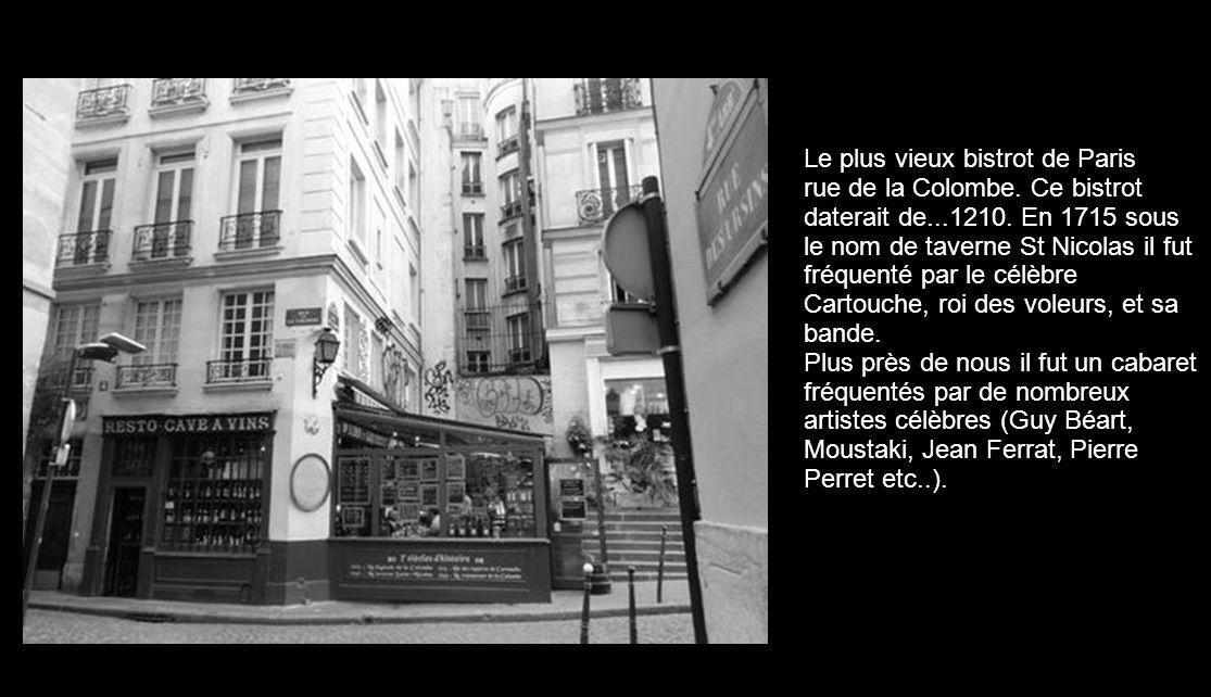 Le plus vieux bistrot de Paris