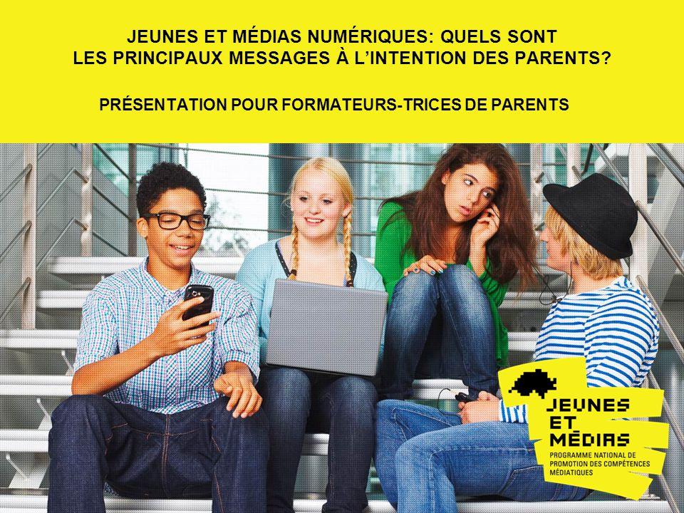 jeunes et médias numériques: Quels sont