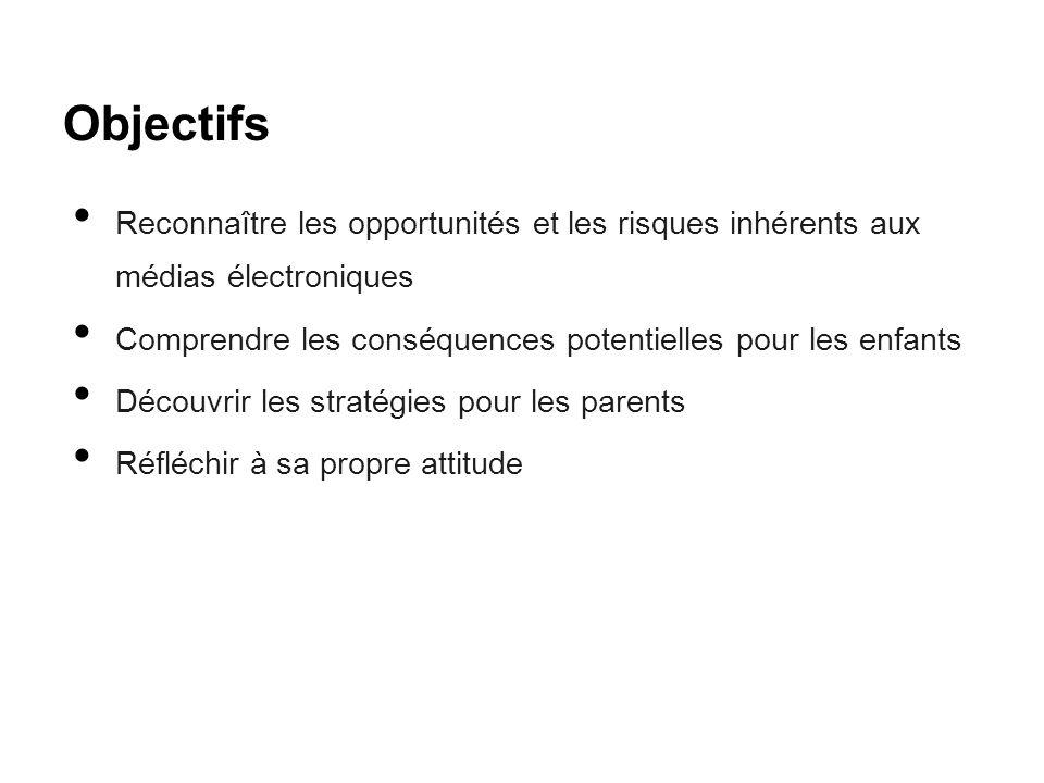 Objectifs Reconnaître les opportunités et les risques inhérents aux médias électroniques.