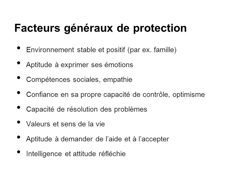 Facteurs généraux de protection