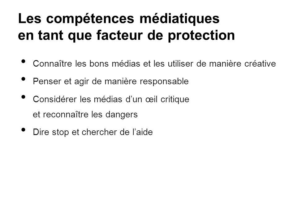 Les compétences médiatiques en tant que facteur de protection