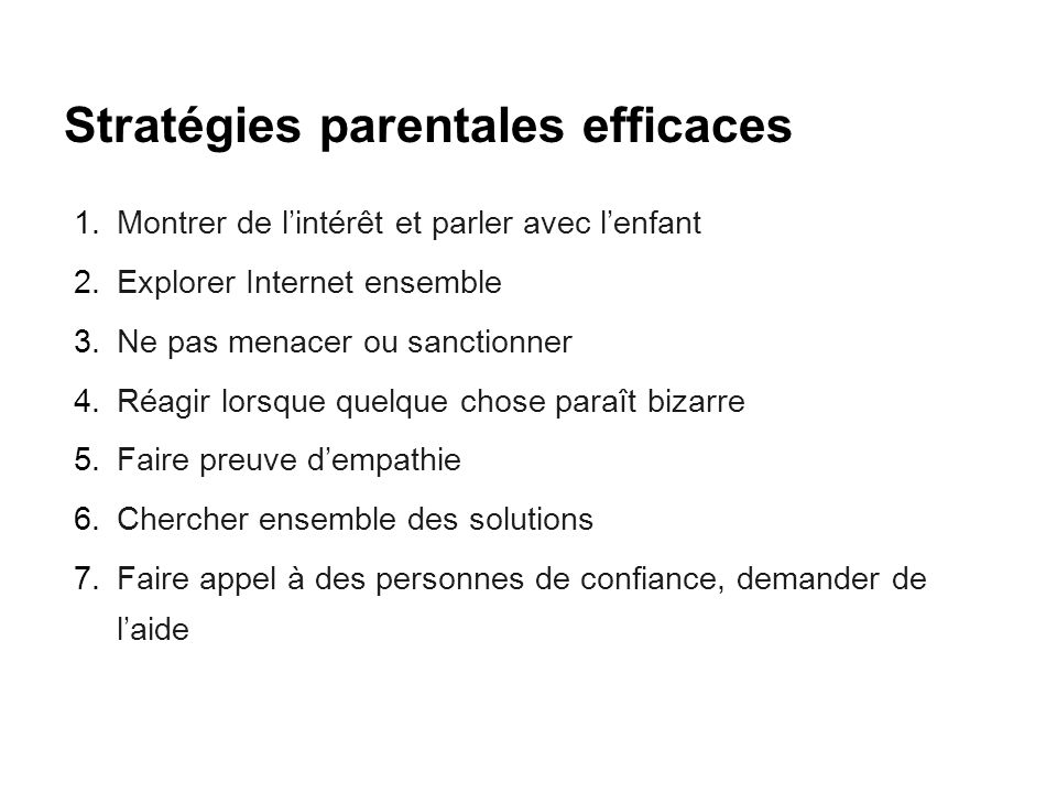 Stratégies parentales efficaces