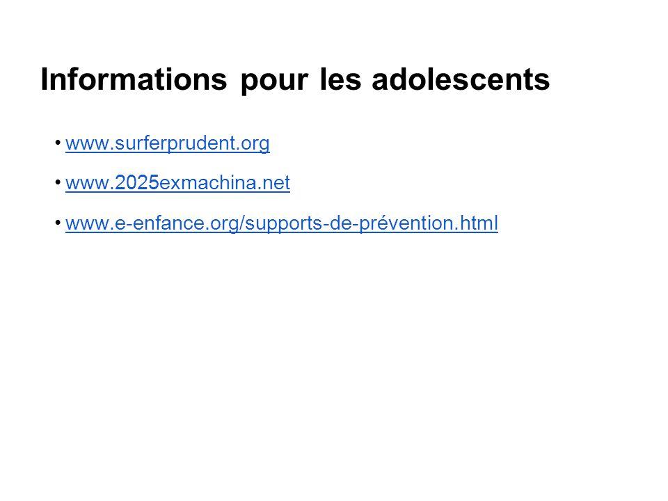 Informations pour les adolescents