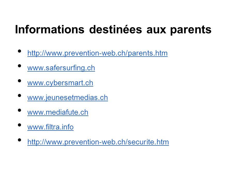 Informations destinées aux parents