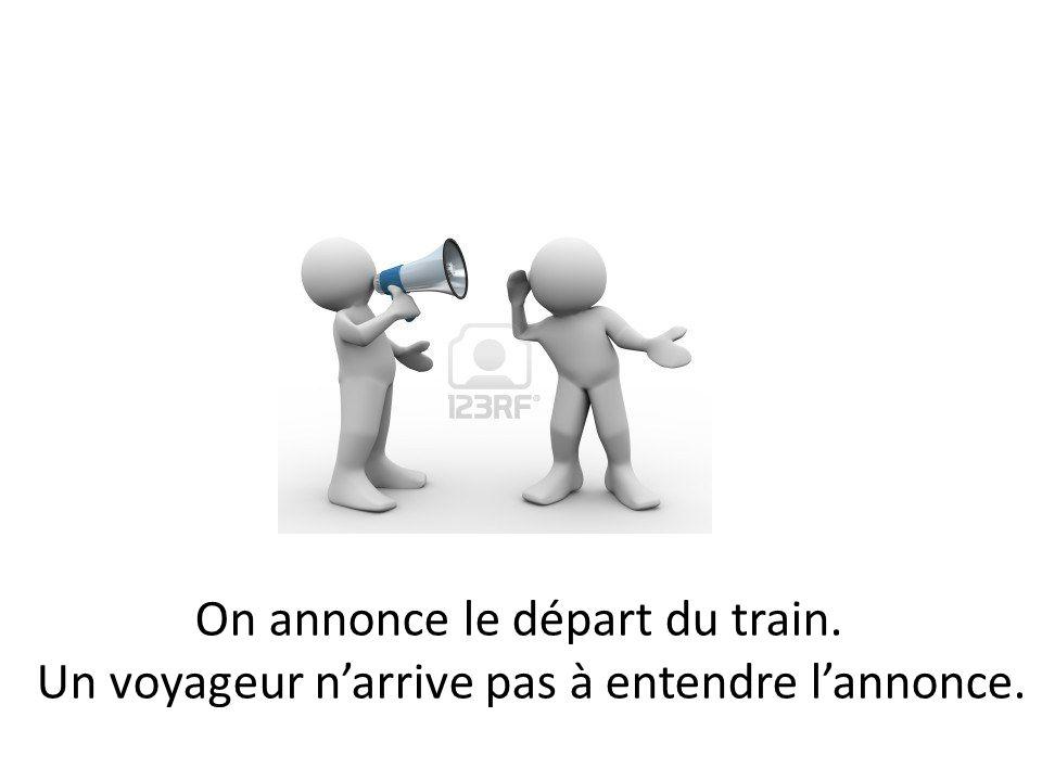On annonce le départ du train.