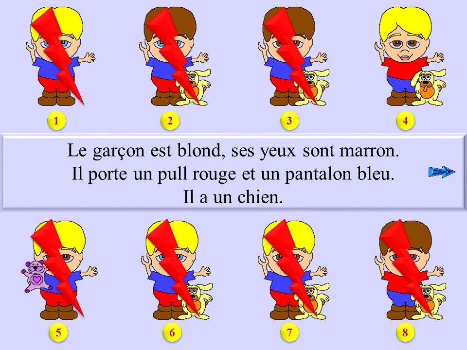 S3.4 Le garçon est blond, ses yeux sont marron.