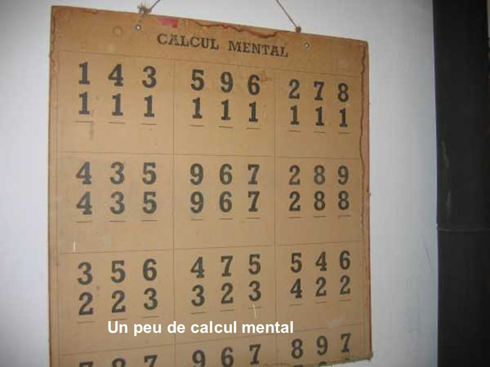 Un peu de calcul mental