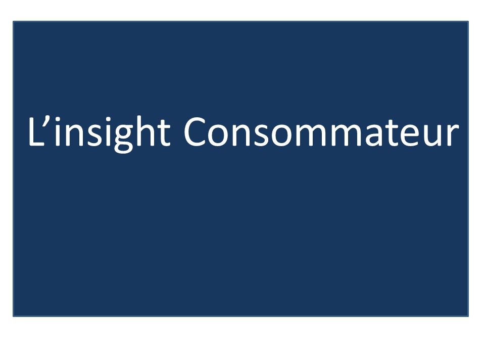 L'insight Consommateur