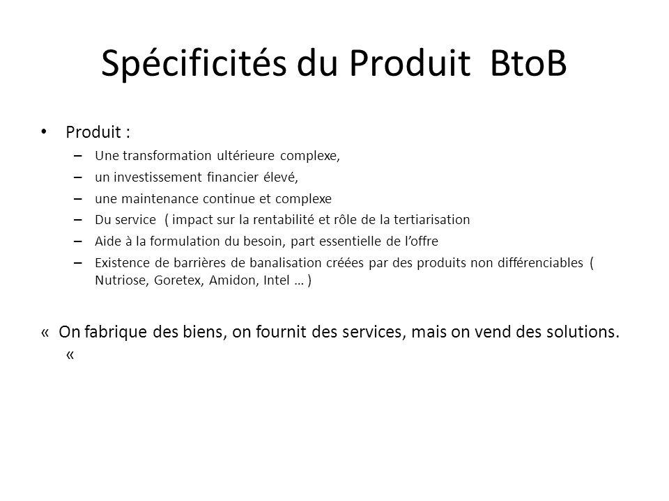 Spécificités du Produit BtoB