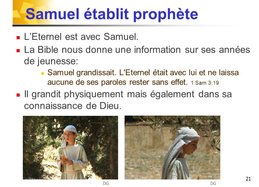 Samuel établit prophète