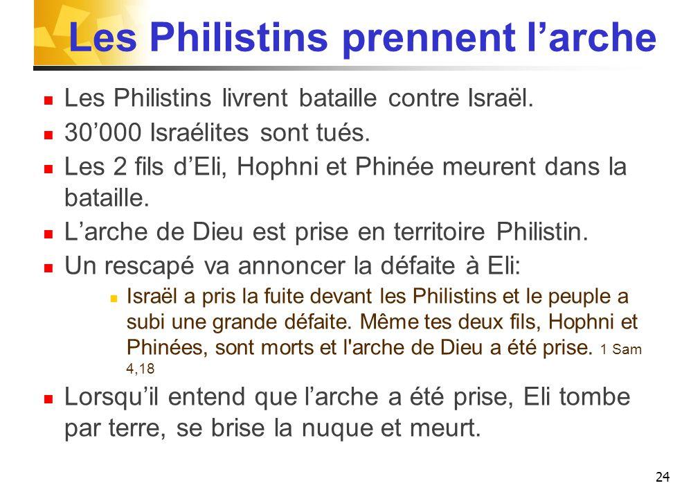 Les Philistins prennent l'arche