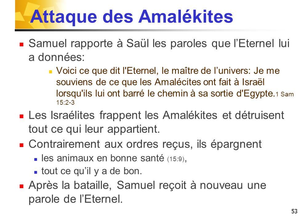 Attaque des Amalékites