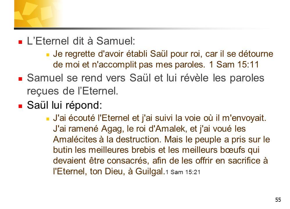 L'Eternel dit à Samuel: