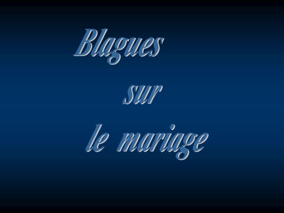 Blagues sur le mariage