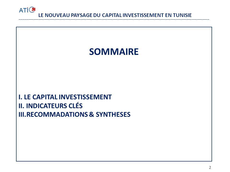 LE NOUVEAU PAYSAGE DU CAPITAL INVESTISSEMENT EN TUNISIE