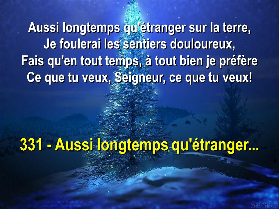 331 - Aussi longtemps qu étranger...