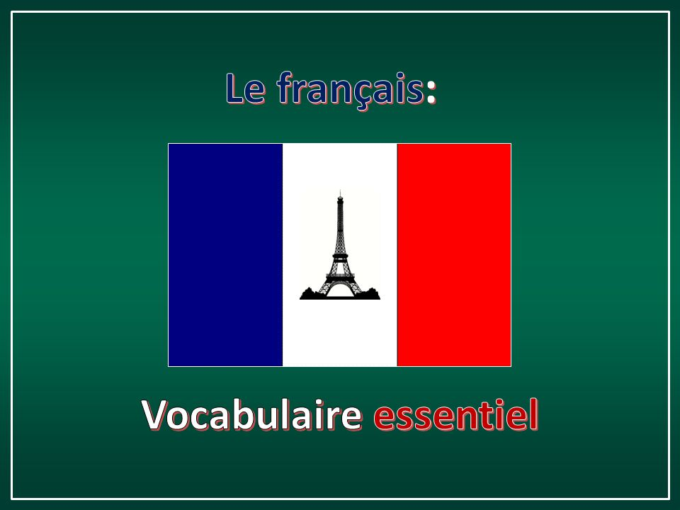 Vocabulaire essentiel