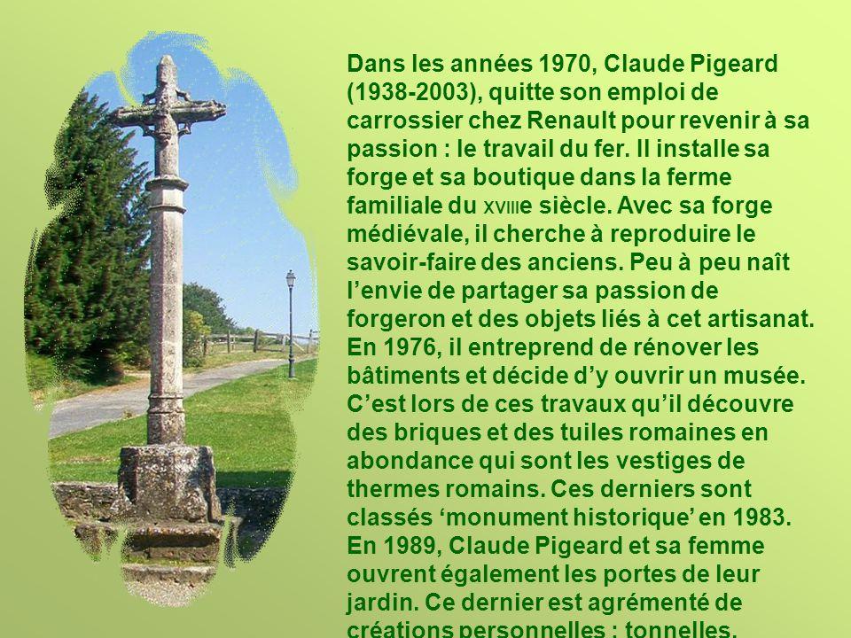 Dans les années 1970, Claude Pigeard (1938-2003), quitte son emploi de carrossier chez Renault pour revenir à sa passion : le travail du fer.