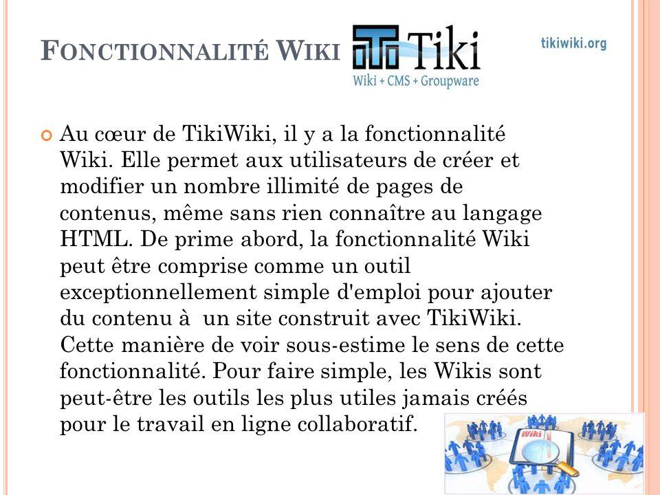 Fonctionnalité Wiki
