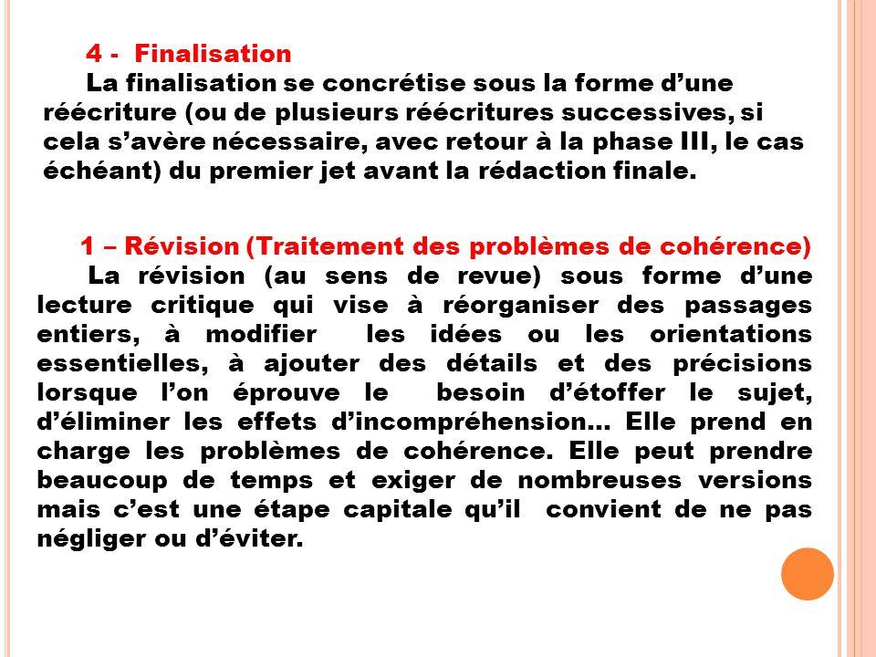 4 - Finalisation