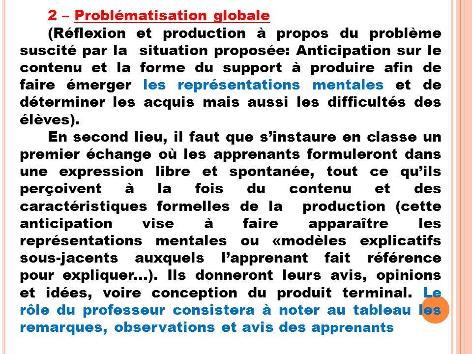 2 – Problématisation globale