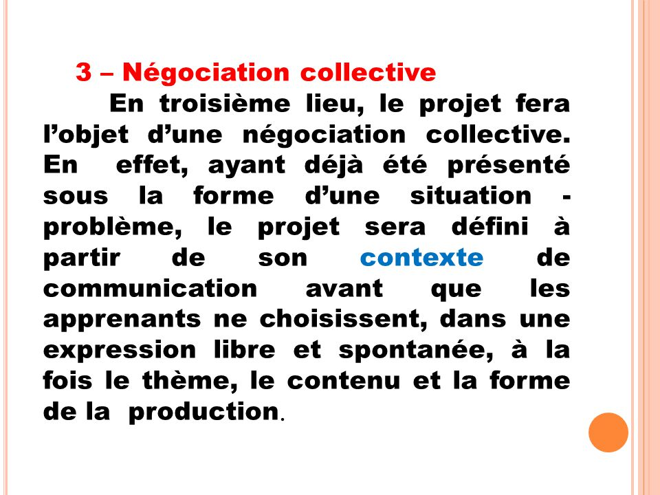 3 – Négociation collective