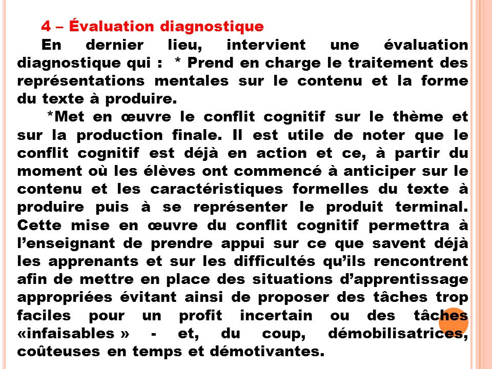 4 – Évaluation diagnostique
