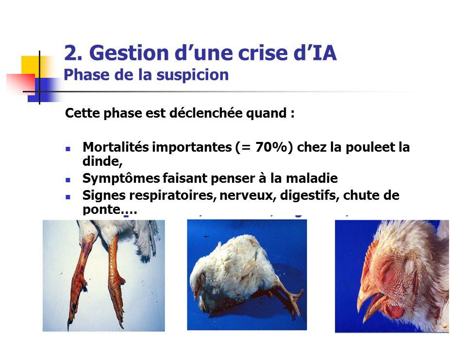 2. Gestion d'une crise d'IA Phase de la suspicion