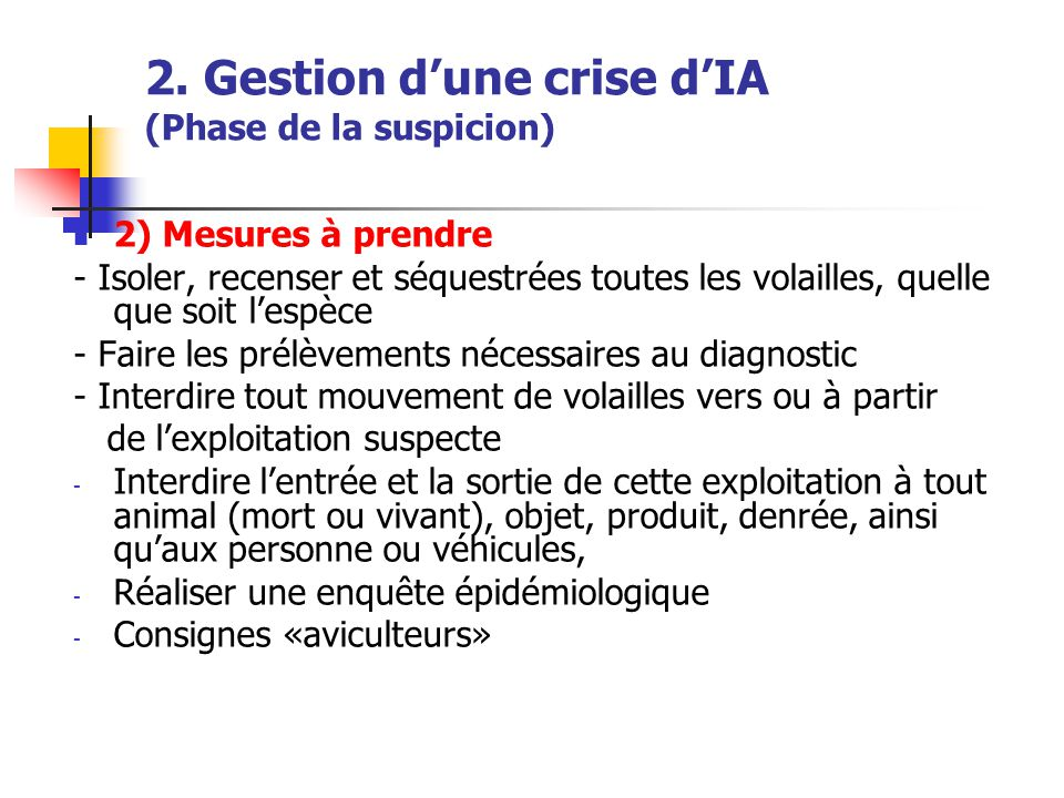2. Gestion d'une crise d'IA (Phase de la suspicion)