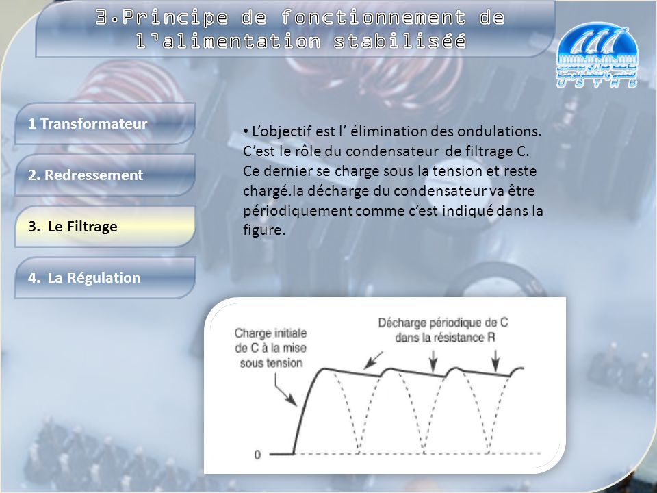 3.Principe de fonctionnement de l'alimentation stabiliséé