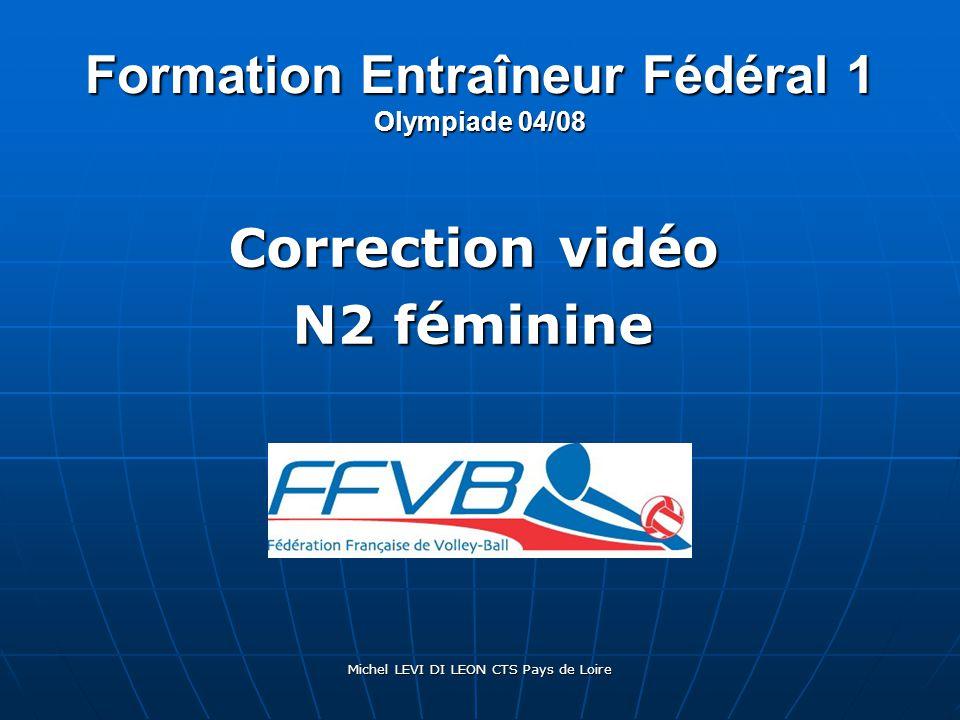 Formation Entraîneur Fédéral 1 Olympiade 04/08