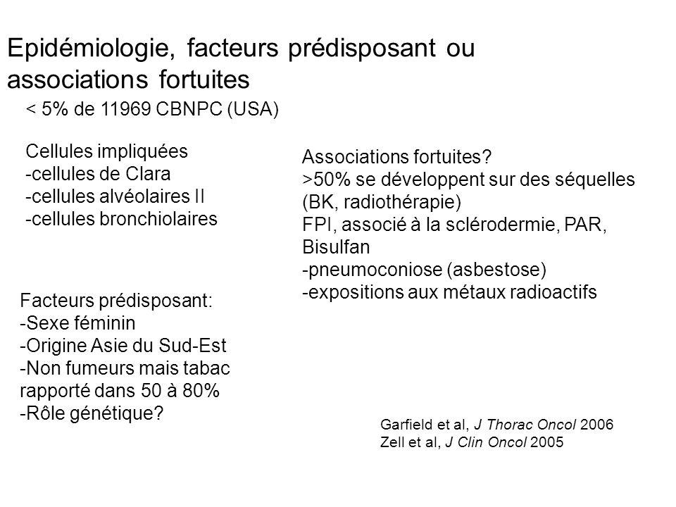 Epidémiologie, facteurs prédisposant ou associations fortuites