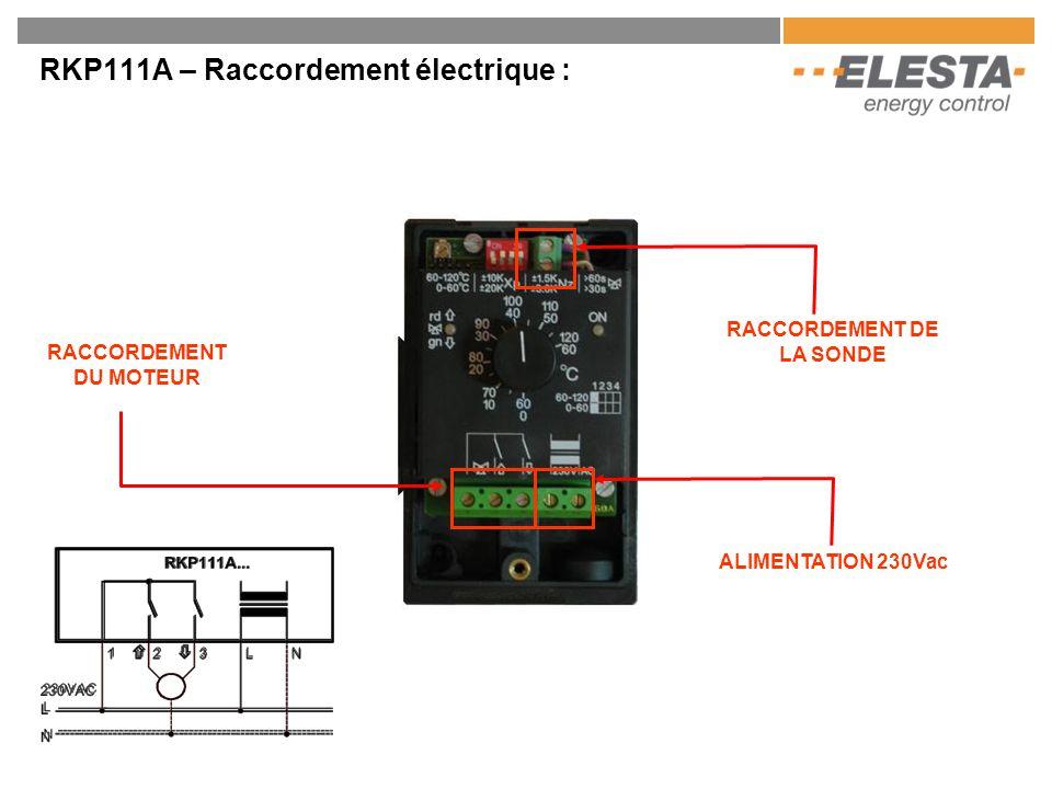 RKP111A – Raccordement électrique :