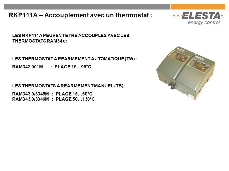 RKP111A – Accouplement avec un thermostat :