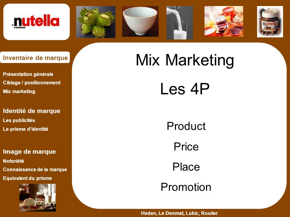 Mix Marketing Les 4P Product Price Place Promotion