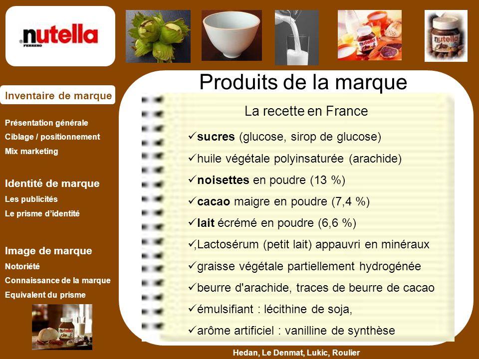 Produits de la marque La recette en France