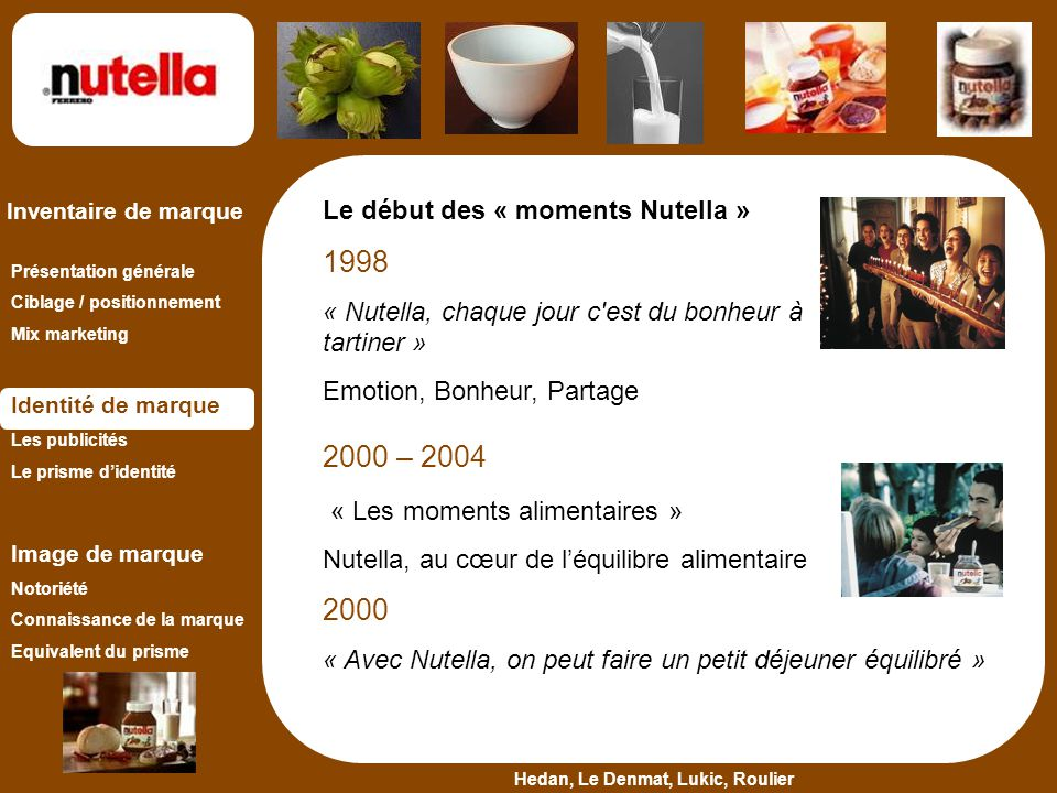 « Les moments alimentaires »
