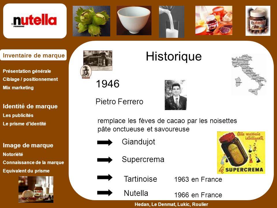 Historique 1946 Pietro Ferrero Giandujot Supercrema Tartinoise Nutella